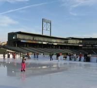 The barnstormers turn their ballpark into an ice park for Lancaster county motors subaru