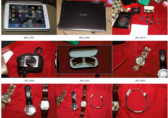 Items recovered in a raid after baggage thefts at Los Angeles International Airport     (Photo: LAWA Airport Police)