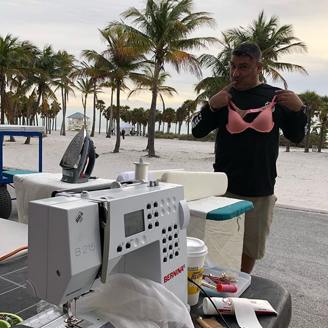 Victoria's best kept Secret is their new 2018 Angel, Jose! Giving the blondes a run for their money! #whoworeitbest 👙 #hgproductions #VS #dreamangel #bobapprovedimage #outdooroffice #bernina #weallsew #beachsewingy