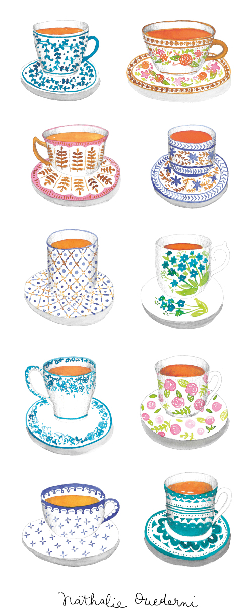 tea-cups-watercolor-illustrations