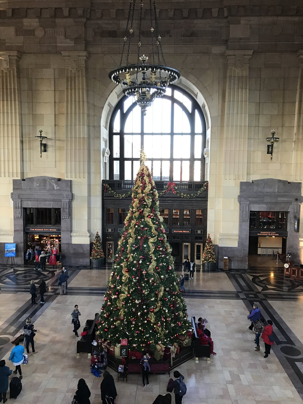Giant Christmas tree in the lobby