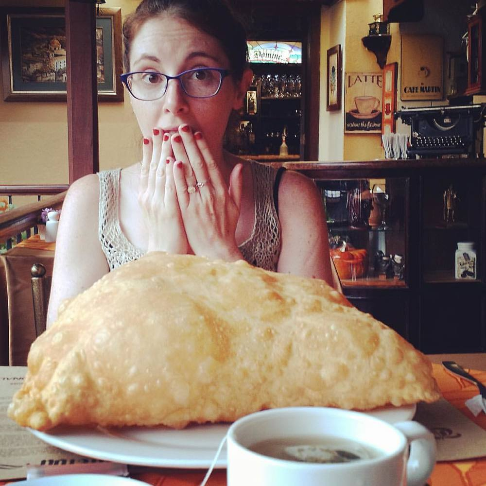The BIGGEST empanada I've EVER seen!