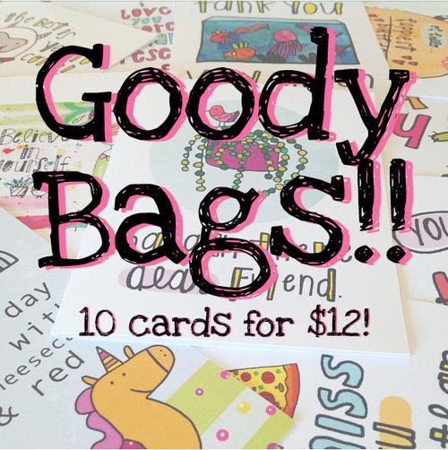 Greeting card goody bags jenipher lyn nightly doodles greeting card goody bags m4hsunfo