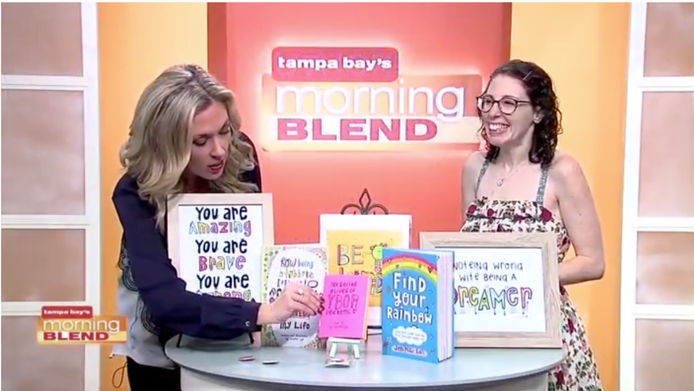 So much fun chatting with  Natalie from Morning Blend  about my books & believing in ourselves!