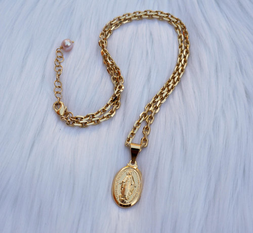 Virgin mary pendant thick chain by sofia virgin mary pendant thick chain aloadofball Choice Image
