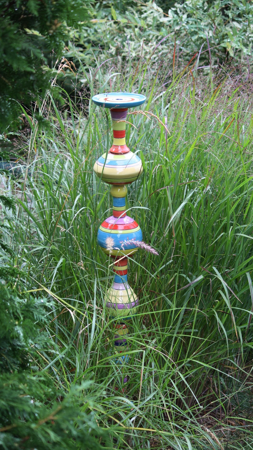 Kaleidoscope Butterfly Spa This multiple piece totem  - will add a lot of colour to your garden and will attract butterflies. SOLD. To order a custom one, please contact me.
