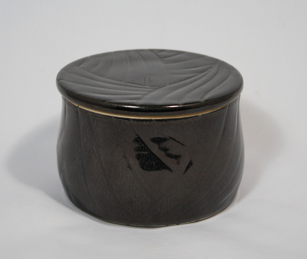 Black french butter dish, pottery by www.MonikaSchaefer.com