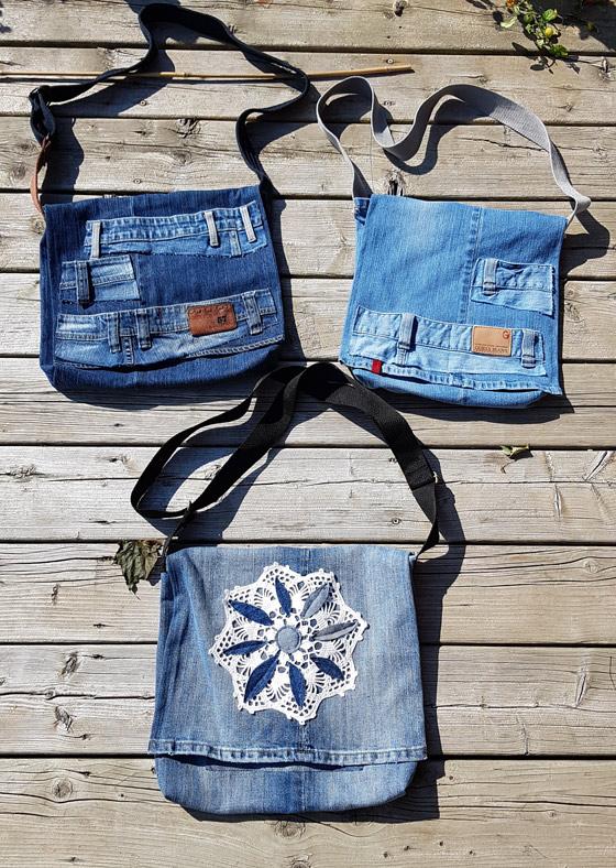 Carmen's funky bluejean purses