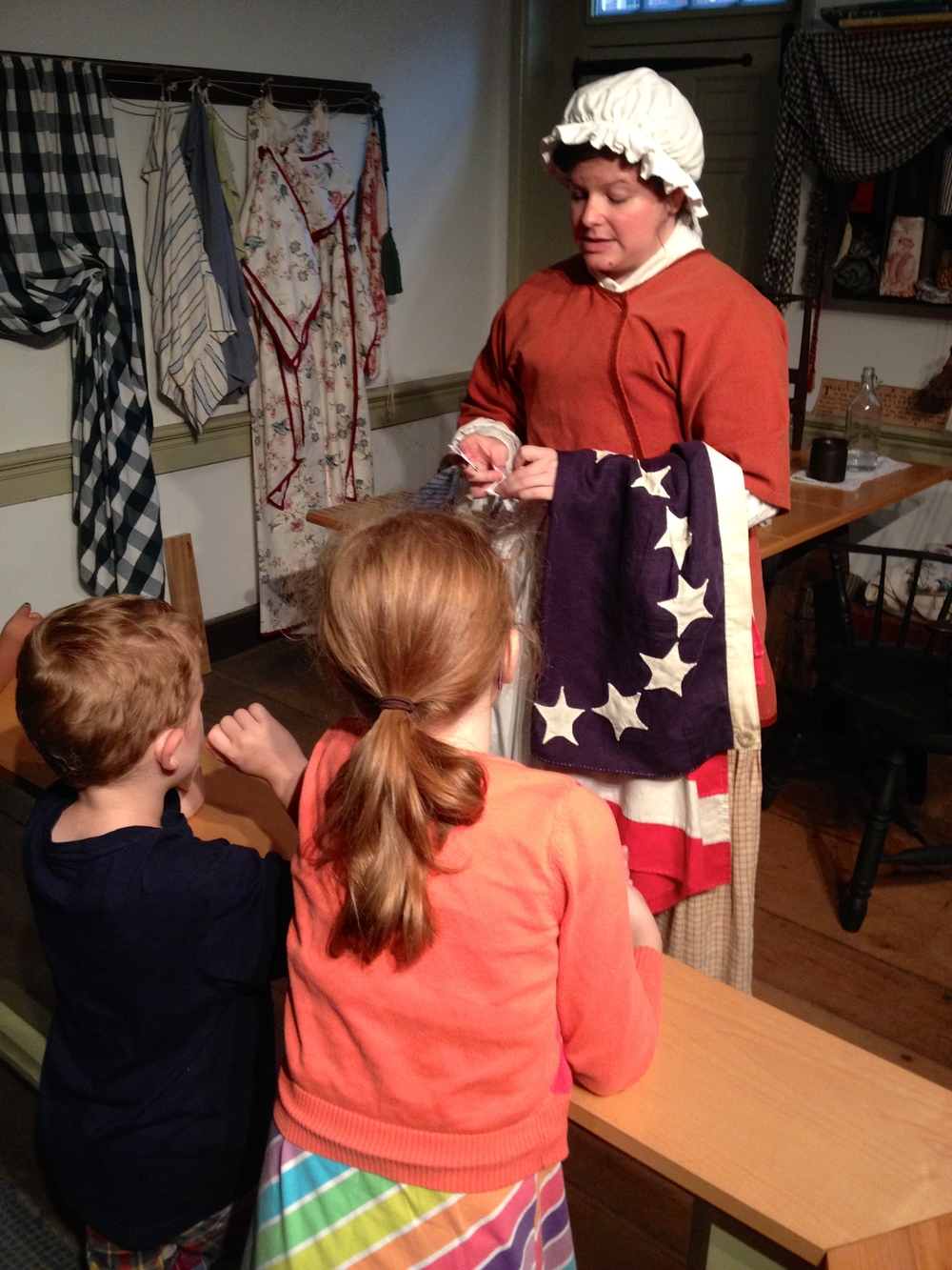 "Oh the joy that took place as we actually got to meet ""Betsy Ross""! She taught us how to cut a perfect five pointed star. Who knew she was still living?!"