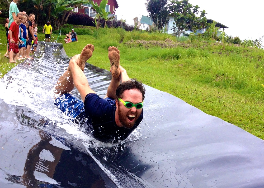 This picture of John at his slip and slide birthday party captures the feel of our life here. It is a full throttle adventure that you have to dive into head first, and when you do then you get the joy that comes with living on the edge in God's Story. (Note: the slip and slide is an old airport conveyor belt; we recycle everything here!)