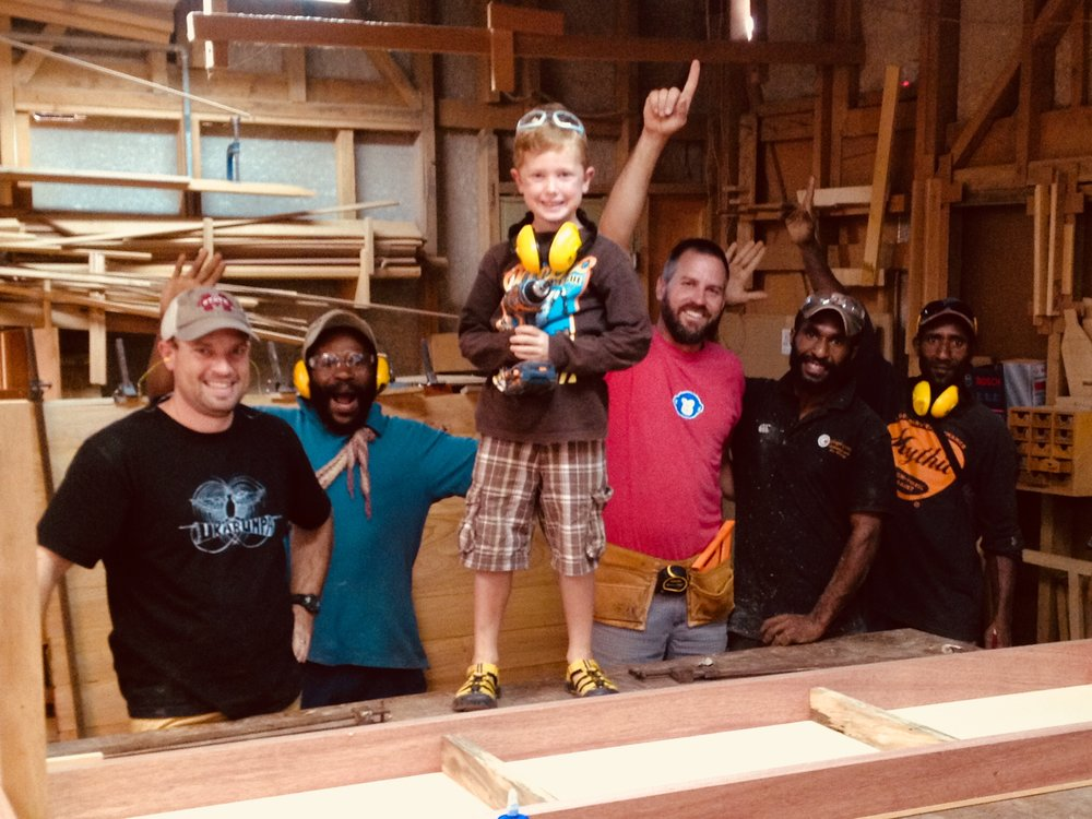 This is a picture I took last year (I think) when a few of us got together on a day off to build a bunch of desks for the school in Onamuna. From Left: Tony, Lemeck, Banner, Matt, Delbert, and Naneka.