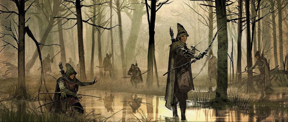 Galion og hans elver patrulje.