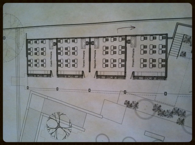 Blueprints for the TEN FE school/youth community center