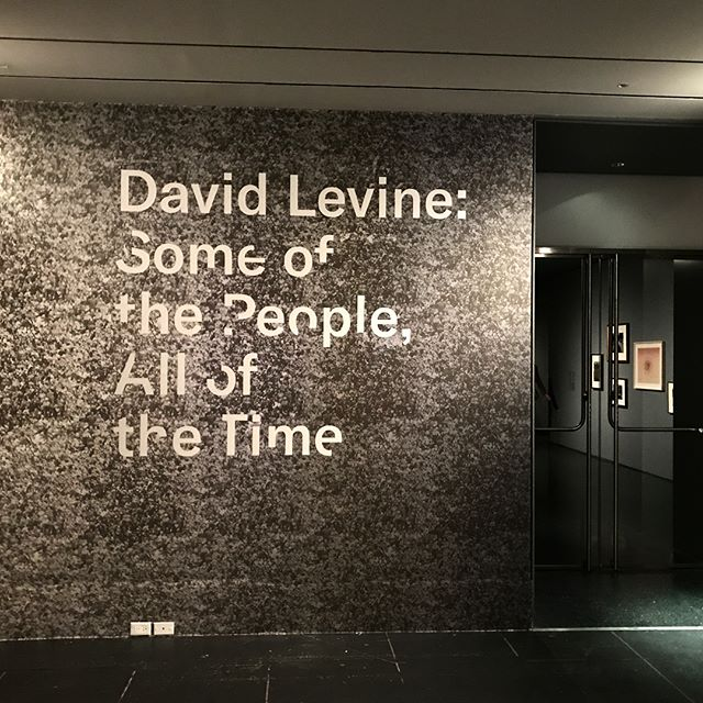 "David Levine's new solo show at the Bklyn Museum is the pointedly ephemeral anti-culmination of decades of work and thought about acting, crowds, and ""authenticity,"" yet couldn't be more appropriate now. It's uncanny and haunting and hilarious and exhausts all superlatives. Impossible to recommend it enough. Runs through July 8."