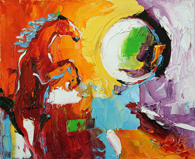 Horse 38 Eclipse 8 x 10 by Laurie Pace