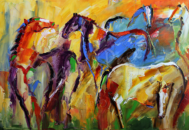 Grazing  18 x 27 Oil on Canvas ©LaurieJustusPace