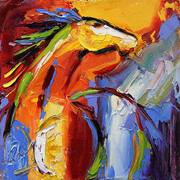 Horse 77 Throwing Caution to the Wind © Laurie Pace 2014