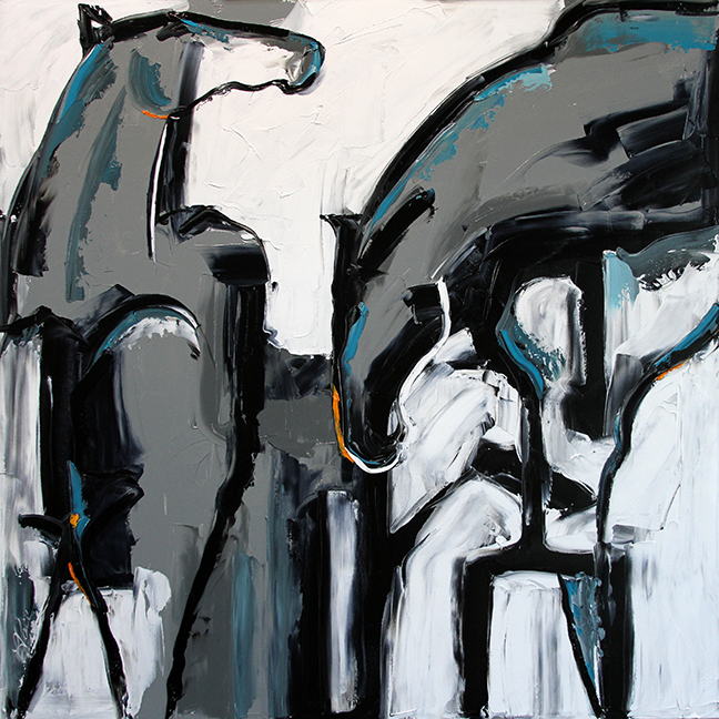Neither Black Or White Contemporary Horse Paintings With Laurie Pace