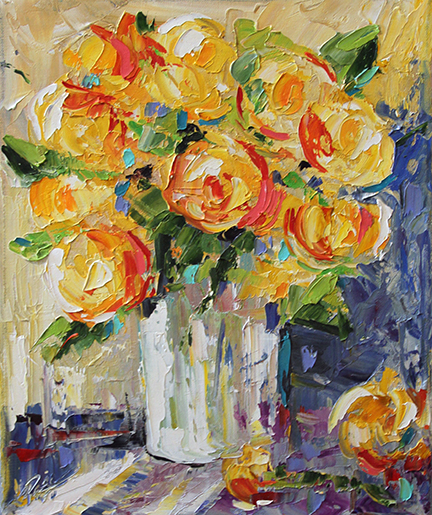 Yellow Roses 11 x 14 © 2012 Laurie Pace