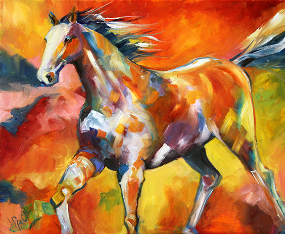 White Runner 16 x 20 Oil on Canvas Laurie Pace