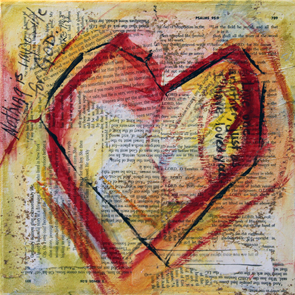 Everything is possible with God   10 x 10 Mixed Media Laurie Pace