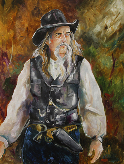Cowboy  12 x 16 Oil on Panel by Texas Artist Laurie Pace