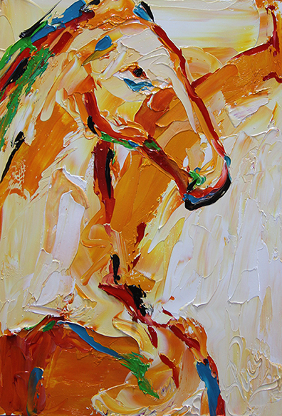 Horse 90 Orange Delight © Laurie Pace 2014