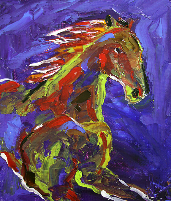 Horse 95 Night Escape  8 x 10 ©Laurie Pace 2014