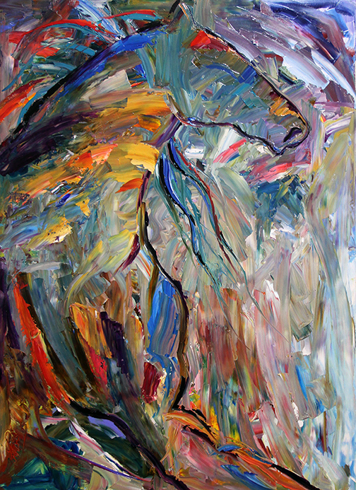 Never Ending Love by Laurie Pace © 2015 Graphics One Design  3 ft by 4 ft Oil on Canvas