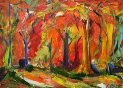 """The Forest of Color"" © Laurie Pace 2007"