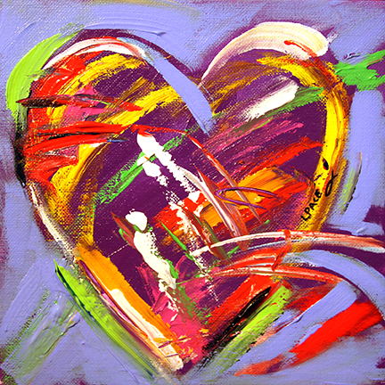 Heartful  8 x 8 Acrylic    © Laurie Pace 2015
