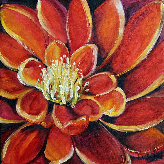 Red Flowers was painting the first of January and sold within a week of me posting it.