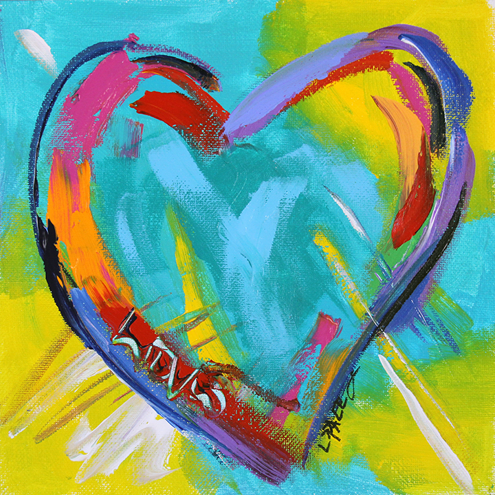 Love  8 x 8 acrylic on canvas panel   ©Laurie Pace 2015