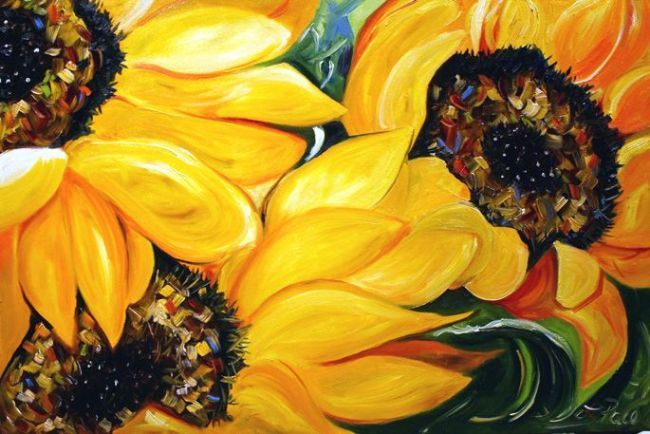 Sunflowers 24 x 36 Oil on Canvas © Laurie Pace 2007