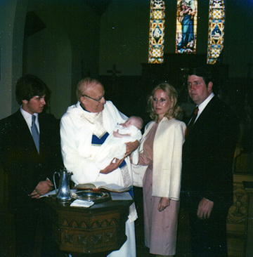 Baptism of our youngest son Morgan, at the Episcopal Church in Nacogdoches.
