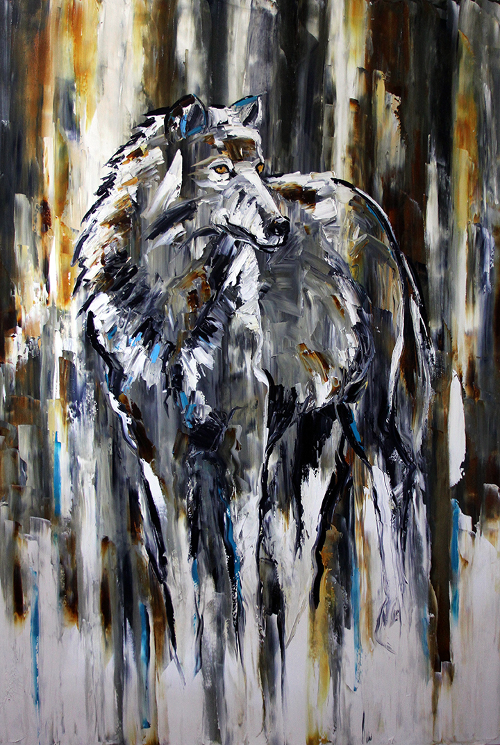 The Lone Wolf Wolf Paintings By Laurie Pace