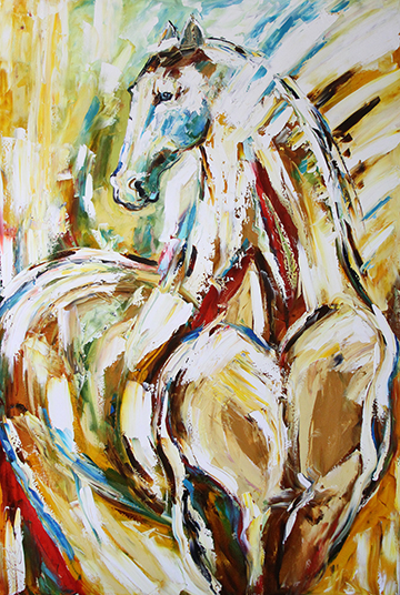 Day Break Horse 40 x 60 inches Oil on Canvas © Laurie Pace 2015