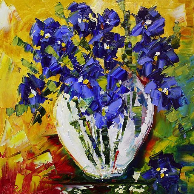 Tiny Blue Iris by Laurie Pace © 2008