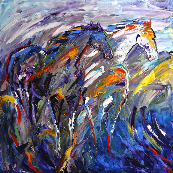 Wild in the Wind 36 x 36 Oil on Canvas  Laurie Pace © 2015