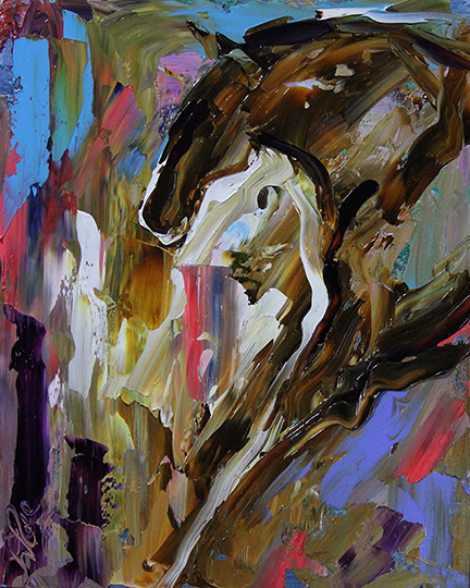 Horse 31 The Moment 8 x 10 Oil Laurie Pace © 2015