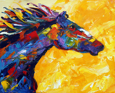 Summer Horse 5 Sold © Laurie Pace