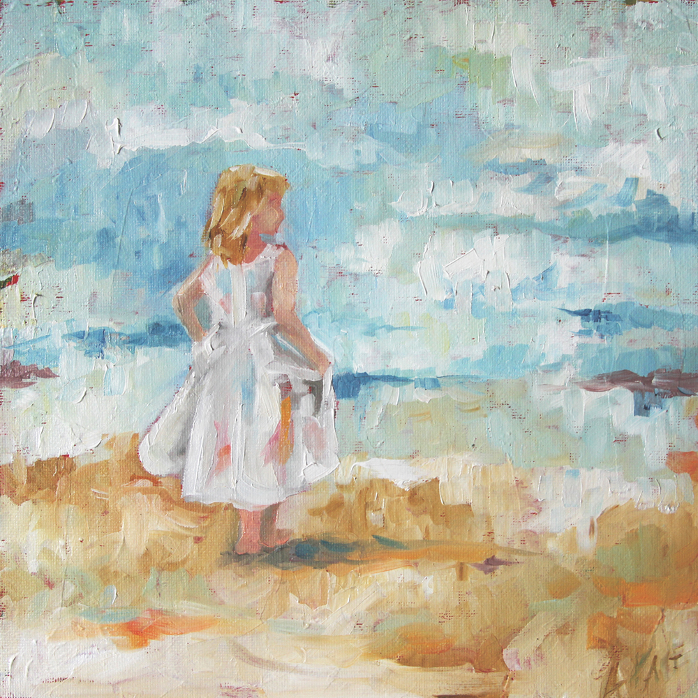 Girl on the Beach © 2012 Laurie Pace