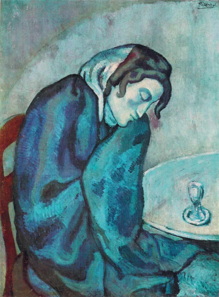 Sleeping Drinker by Picasso Blue Period