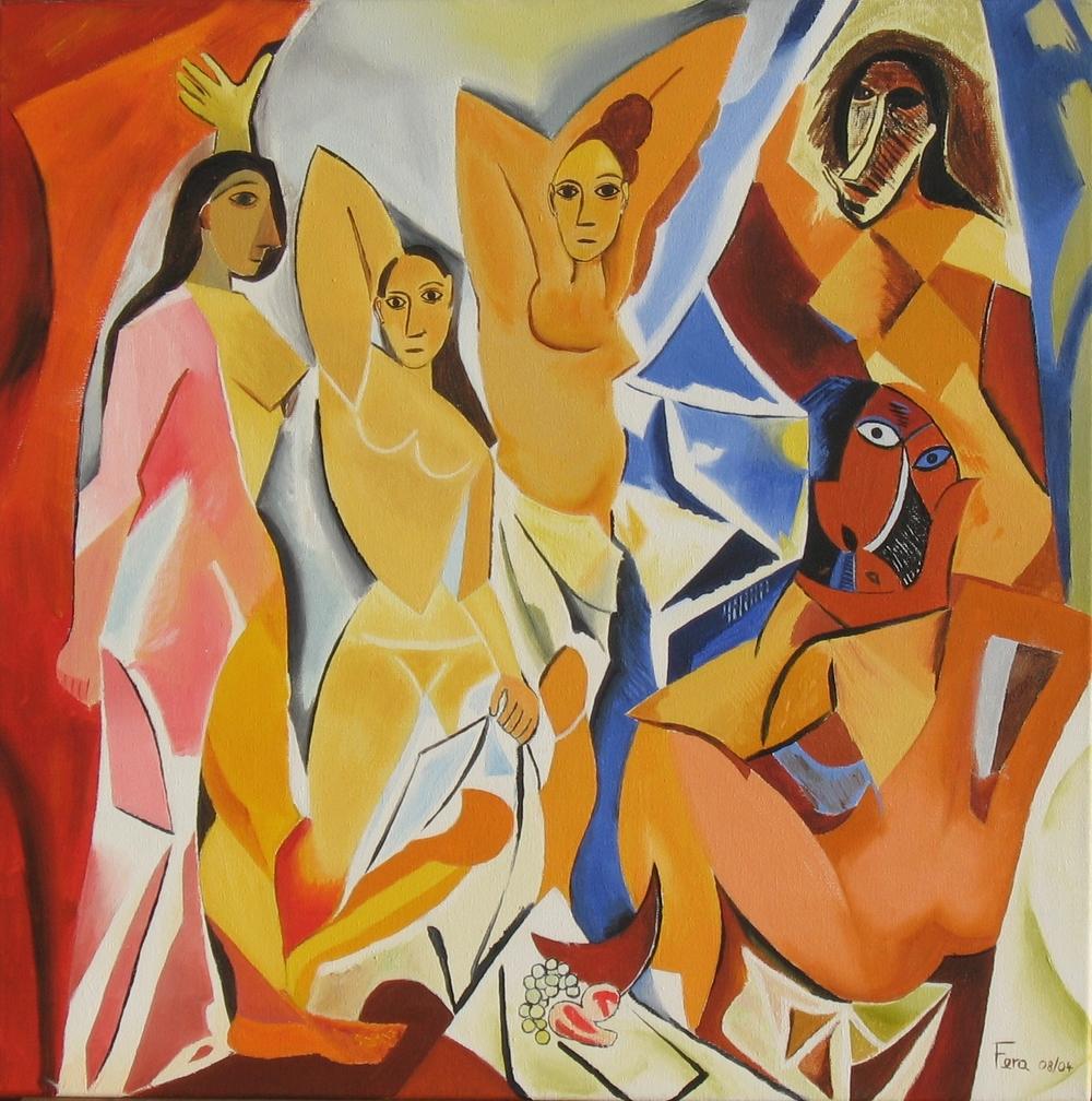 Les Demoiselles d' Avignon Picasso Cubism