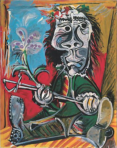 Pablo Picasso, Portrait de l'homme à l'épée et à la fleur (1969)