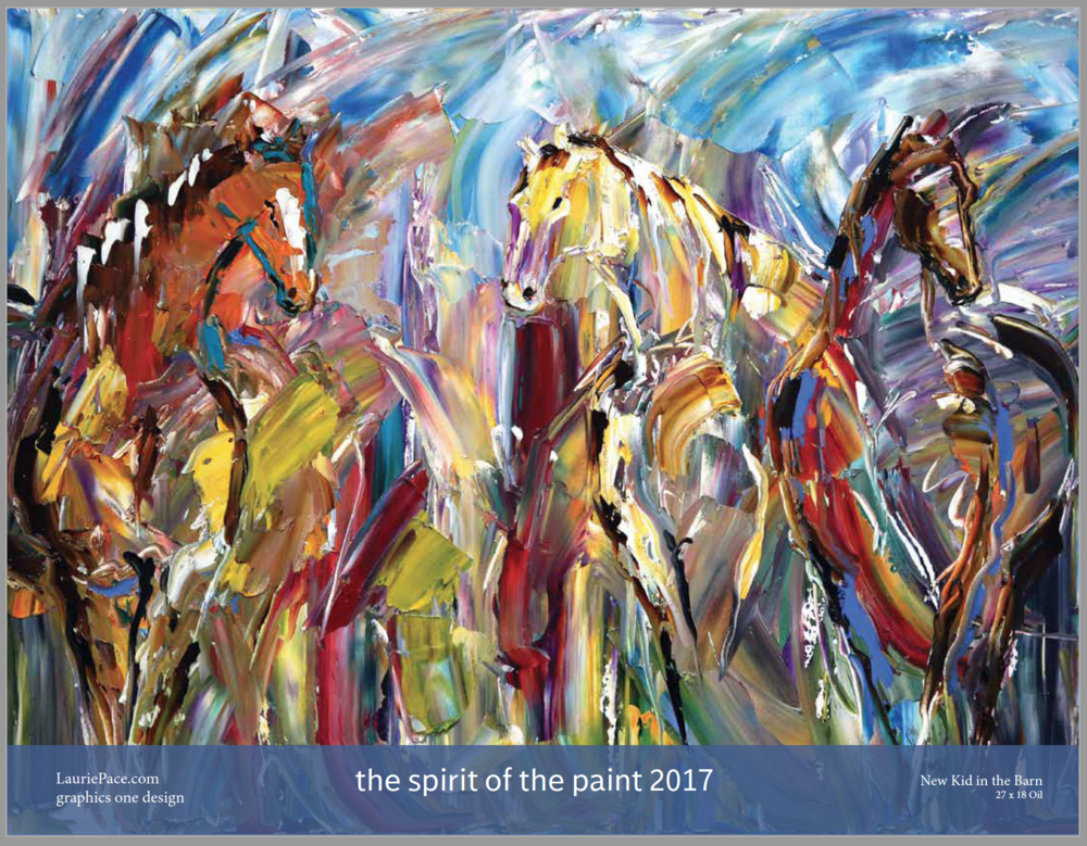 2017 Calendar, The Spirit of the Paint  Laurie Justus Pace