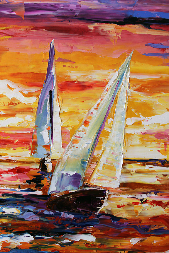 Part of Larger Painting Golden Sunset  Laurie Justus Pace © 2013