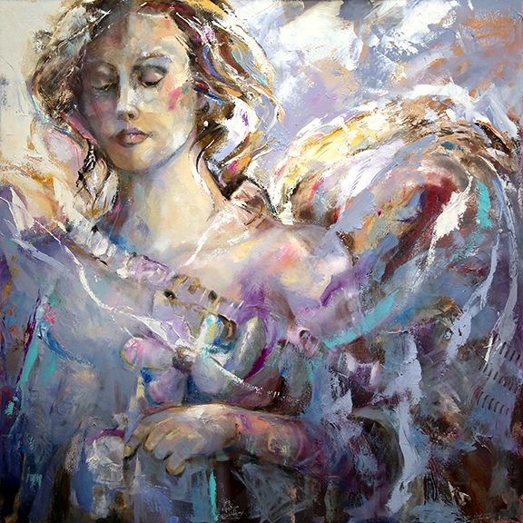 blog  Angel Tears 36 x 36 x 1.75 Oil on Canvas Laurie Justus Pace Pure Justus Collection.png