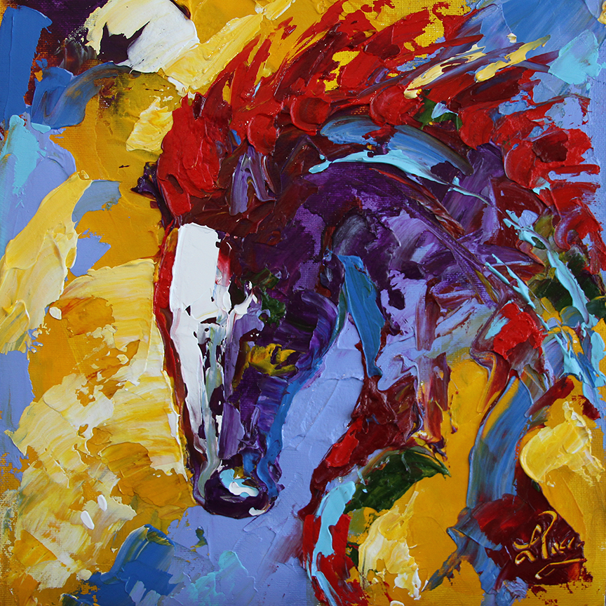 9a8198d40 Hints Of Sunrise . . . — Laurie Justus Pace: Contemporary Horse Paintings, Equine  Art, Abstract Horse Paintings
