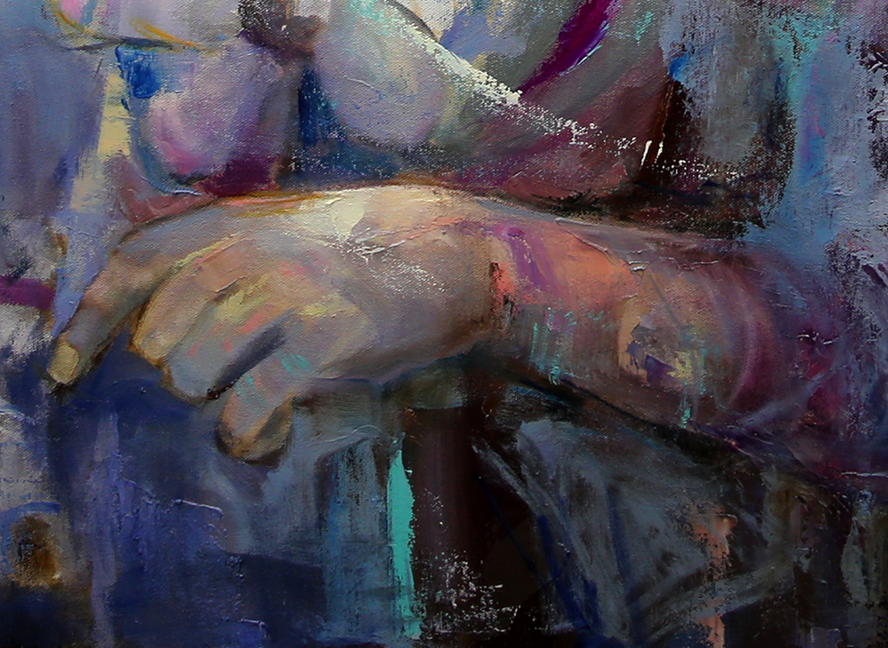 a4 detail  Angel Tears 36 x 36 x 1.75 Oil on Canvas Laurie Justus Pace Pure Justus Collection.png